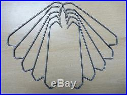 500 C Steel Wire Hooks Powder Coating Alloy Wheel Hang Painting Drying Hanging