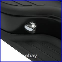 Black Rear Step Bumper Face Bar For 99-07 Chevy Silverado GMC Sierra 1500 2500
