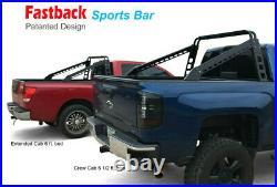 Fast Back Sports Bar Rack Fits Full Size Trucks/Silverado/Ram/F-150 Grille Guard