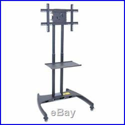Flat Panel Cart Seamless Pipes with Powder Coat Paint Finish 32- 60 Flat LCD