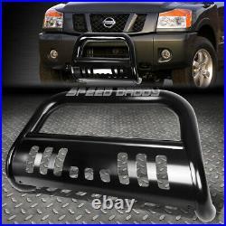 For 04-15 Nissan Titan/armada Matte Black Bull Bar Push Bumper Grille Guard+skid