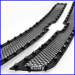 For 2003-2005 Silverado 03-06 Avalanche Rivet Mesh Black Upper Grille Inserts