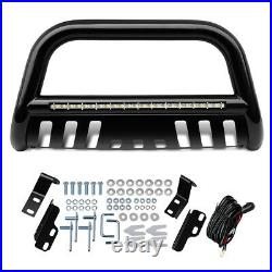 For 20042020 Ford F-150 Bull Bar Bumper Guard with Led Lights Brush Push Grille