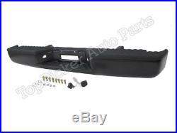 For 2004-2013 New Titan Rear Bumper Powder Coat Black Full Assy WithO Sensor Hole