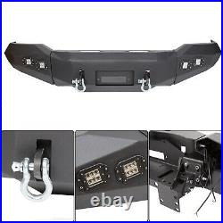 For 2007-2013 Toyota Tundra Front Bumper Steel Winch Ready with D Rings & Lights