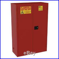 JAMCO BP72RP Paint and Ink Cabinet, 72 gal, Flammable, 18 x 65 x 43, Red