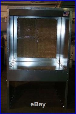 JC-BPNR 5'X7'X2' BENCH POWDER COATING SPRAY PAINT BOOTH WITH LIGHT T5 4 bulb