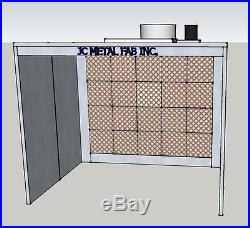 JC-OFPNR 4' x 8' x 1.5' OPEN FACE POWDER COATING SPRAY PAINT BOOTH