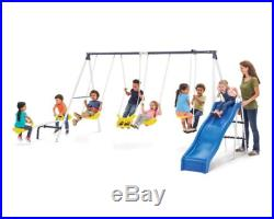Kids Playground Swing Slide Set Backyard Play Set Powder Coated Base Paint NEW