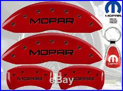 MGP Caliper Brake Cover For Dodge 2007-2009 Nitro Black Fill on Red Paint