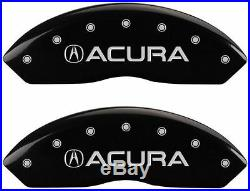 MGP Caliper Brake Covers For Acura 2015-2016 TLX Black Paint 39018SACUBK