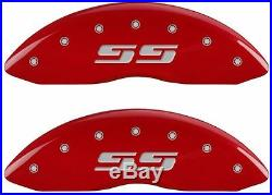 MGP Caliper Brake Covers For Chevy 05-07 Silverado 1500 Red Paint 14238FSS3RD
