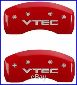 MGP Caliper Brake Covers For Honda 2003-2007 Accord Red Paint 20199SVTCRD