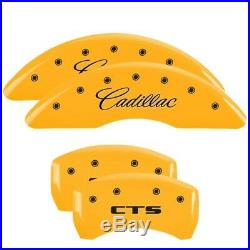MGP Caliper Brake Covers for Cadillac 2014-2017 CTS Yellow Paint 35024SCTSYL