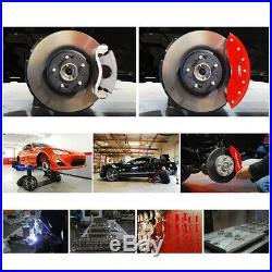MGP Caliper Brake Covers for Chevrolet 1988-1996 Corvette Red Paint 13013SCV4RD