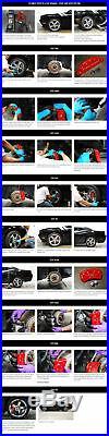 MGP Caliper Brake Covers for Dodge 2006-2016 Charger Black Paint 12088SRTRBK
