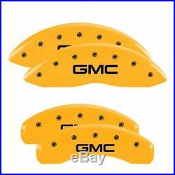 MGP Caliper Brake Covers for GMC 2015-2019 Yukon Yellow Paint 34015SGMCYL