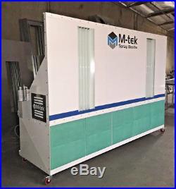 New Mobile M-tek Prep Station, Paint Spray Booth, Powder Coated White