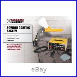 POWDER COATING SYSTEM PAINT GUN COAT KIT withfour one pound powder colors