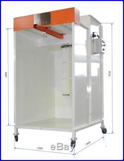 Powder paint shop, powder coating electric oven, enclosed spray booth, applicator