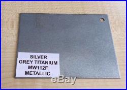 Silver Grey Titanium Metallic MW112F Powder Coat Coating ALLOY WHEEL PAINT