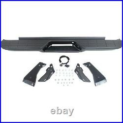 Step Bumper For 1988-98 Chevy C1500 With OE Type Bracket Powdercoated Black Rear
