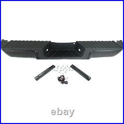 Step Bumper For 2008-2012 Ford F-250 Super Duty With Black Face Pad Rear