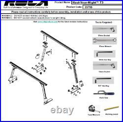 Truck Bed Ladder Rack For 05-21 Tacoma 07-21 Tundra 04-21 Nissan Titan Qty2 NEW