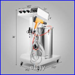 WX-101 POWDER COATING SYSTEM MACHINE SPARY GUN EQUIPMENT With TANK PAINT SYSTEM