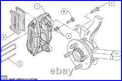 Wilwood Dpha Brake Caliper & Pad Set, Front Stock Replacement, Honda, Acura, Red