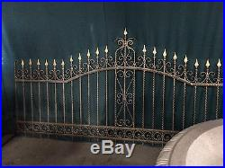 Wrought Iron Fencing Gold Powder Coated 1 Piece Hand Painted Fence 11.75 Feet