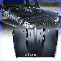 Xprite Avenger AVG Steel Vented Hood Heat Extract for 2007-2018 Jeep Wrangler JK
